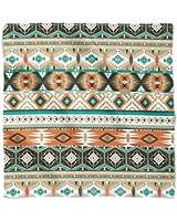 Earthy Aztec Tribal Geometric Satin Style Scarf