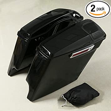 XMT-MOTO 5 Stretched Hard Saddle Bags W//Key fits for Harley Davidson Touring Models 2014 2015 2016 2017 2018 2019