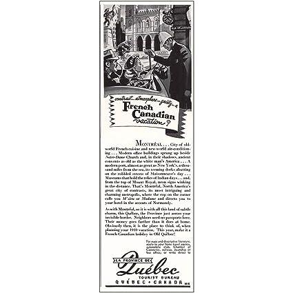Amazon com: RelicPaper 1940 Quebec Canada Tourist Bureau