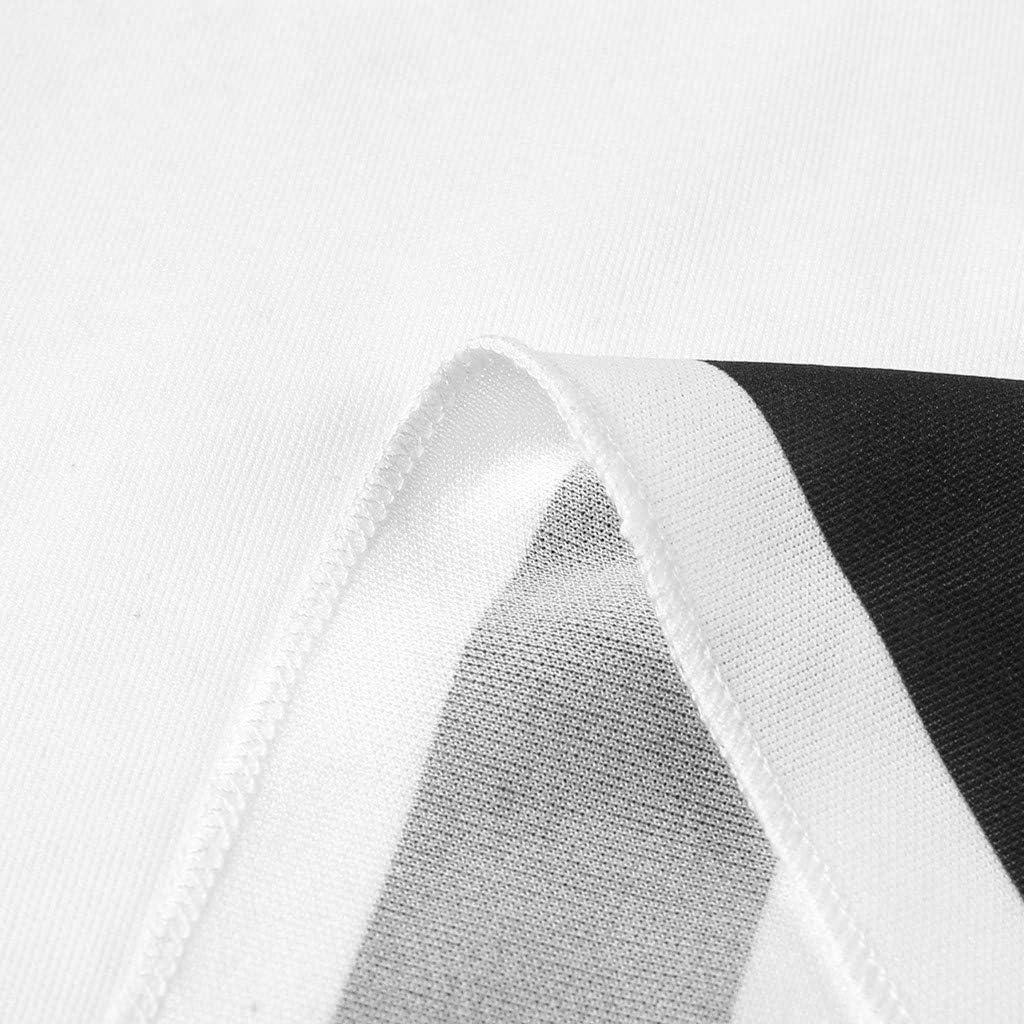 ZHENBAO WomensStriped Print Sleeveless Round Neck Summer Casual Flared Midi Dress