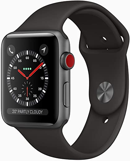 AppleWatch Series3 (GPS, 42mm) - Space Grey Aluminium Case with Black Sport Band