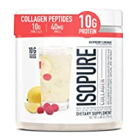 Isopure Multi Collagen Peptides Protein Powder, Vitamin C for Immune Support, Type...