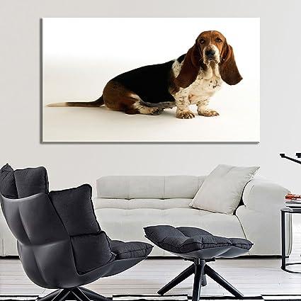 festaprint Extra grande pared arte impresión para decoración del hogar Basset Hound perro raza 3d Material