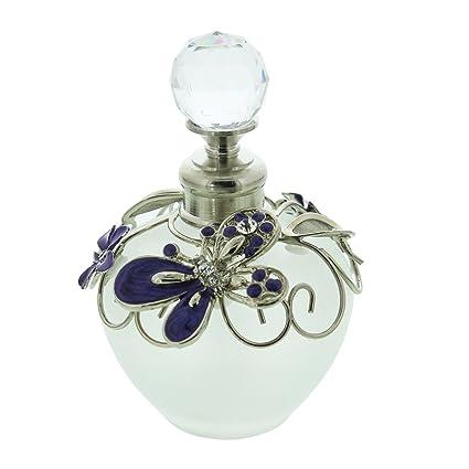 Sophia cristal y alambre de botella de Perfume de mariposa