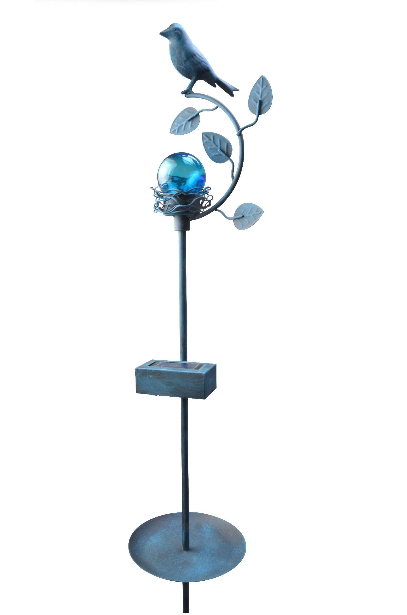 Moonrays 92575 Solar-Powered Backyard Bird Brighter LED Metal Stake Light by Moonrays