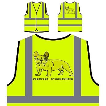 Perro De Raza Bulldog Francés 1 Chaqueta de seguridad amarillo personalizado de alta visibilidad s811v