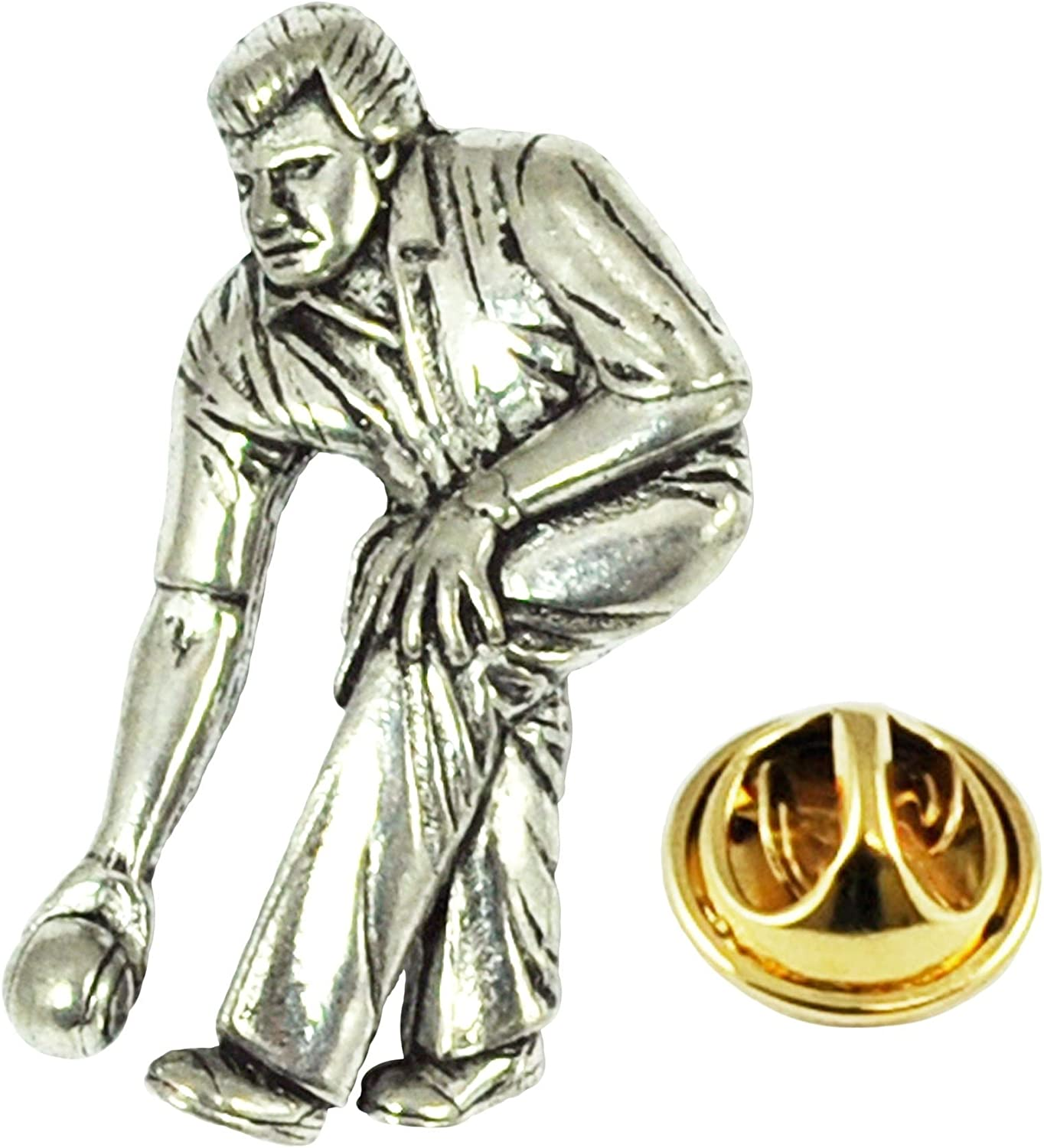 Bowls Player Quality Pewter Tie Clip