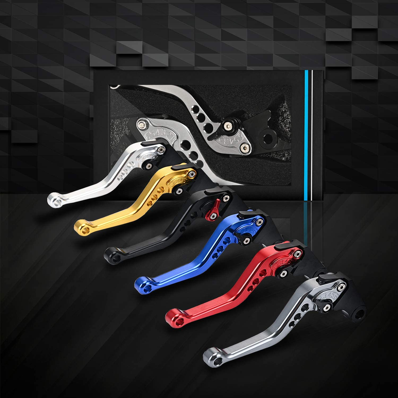 Trkimal Short Brake Clutch Levers Compatible with Honda GROM MSX125 2014-2020|CBR250R 2011-2013|CBR300R|CB300F|FA 2014-2019|CB400F|CB400R 2013-2015|CBR500R|CB500F|X 2013-2019|Monkey 125