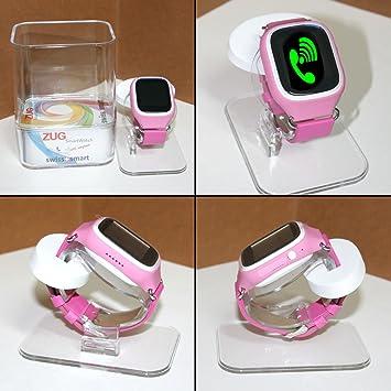Swiss-Pro ZUG - Reloj inteligente infantil (pantalla IPS, Bluetooth 3.0, micro SIM, GPS) color rosa: Amazon.es: Electrónica