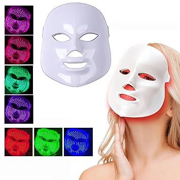 ZRYstore 7 color LED máscara fotón luz rejuvenecimiento piel blanqueamiento facial belleza diaria cuidado de la