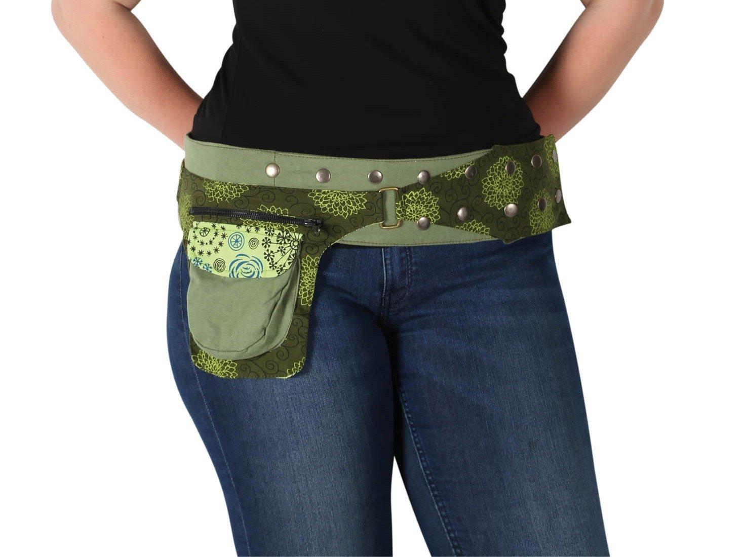 Kathmandu Imports Cotton Snap Hip Belt w/Pocket, Green