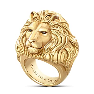 Heart A Lion 24K Gold Plated Men s Ring Amazon
