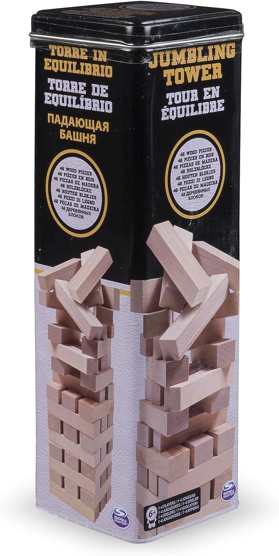 Spin Master Jumbling Tower in Tin Niños y Adultos Party Board Game - Juego de Tablero (Party Board Game, Niños y Adultos, Niño/niña, 6 año(s), 33,1 mm, 33,1 mm): Amazon.es: Juguetes y