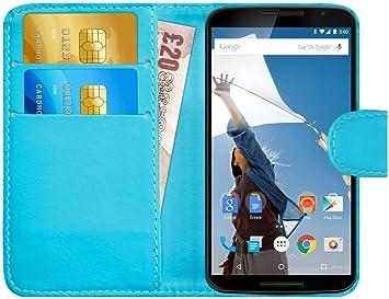 G-Shield Funda para Motorola Google Nexus 6, Carcasa de Cuero con ...