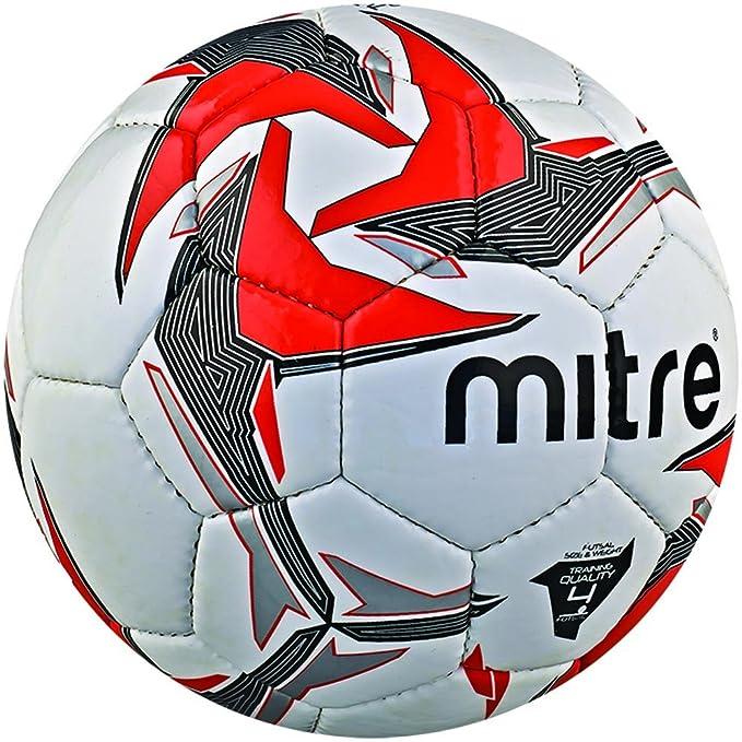 12 opinioni per Mitre- Tempest Futsal, Pallone da calcio, misura 4, colore: Bianco/Rosso/Nero