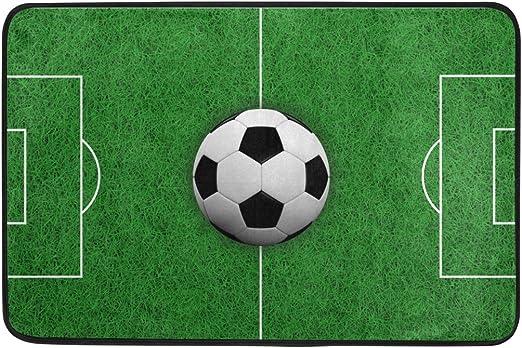 COOSUN Rendering 3D Balón de fútbol en Campo Felpudo, Entrada de ...