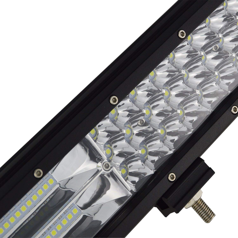Barra LED Fuoristrada 24V Impermeabile Fari LED Luce da Lavoro Trattore Auto Veicoli 4x4 Atv UtV 4WD Rigidon Barra Luce a Led 51cm 288W Combinazione di Fascio Spot e Fascio Inondazione DC 12V