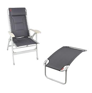 Crusader acolchado sillón reclinable gris + pierna y pie (para silla de ruedas, color gris: Amazon.es: Jardín