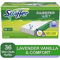 Swiffer Sweeper Wet Mopping Pad Refills for Floor Mop with Febreze Lavender Vanilla & Comfort Scent