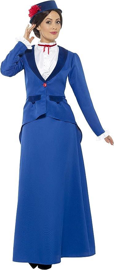 Smiffys-46753L Disfraz de niñera Victoriana, con Chaqueta con ...