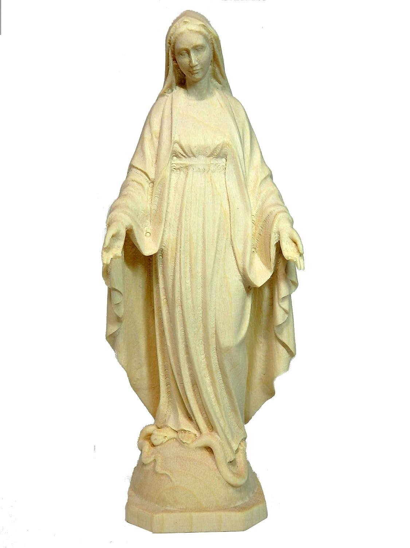 創業100年木彫りブランド《レーピ》木彫り マリア像「メジュゴリエ」無原罪 白木NR 高さ12cm【イタリア】 B01MULYT9J