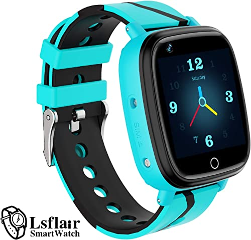 Kids SmartWatch-Kid s Smartwatch Waterproof GPS LBS Dual Position Tracker HD Touch Screen Two-Way Call Games SOS Alarm Clock Camera Watch Birthday Gifts for Kids Suitable for Children Aged 3-12 Blue