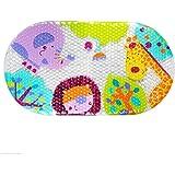 Bath mat Non Slip Safari Kids PVC Shower Bathtub mat for Baby Child