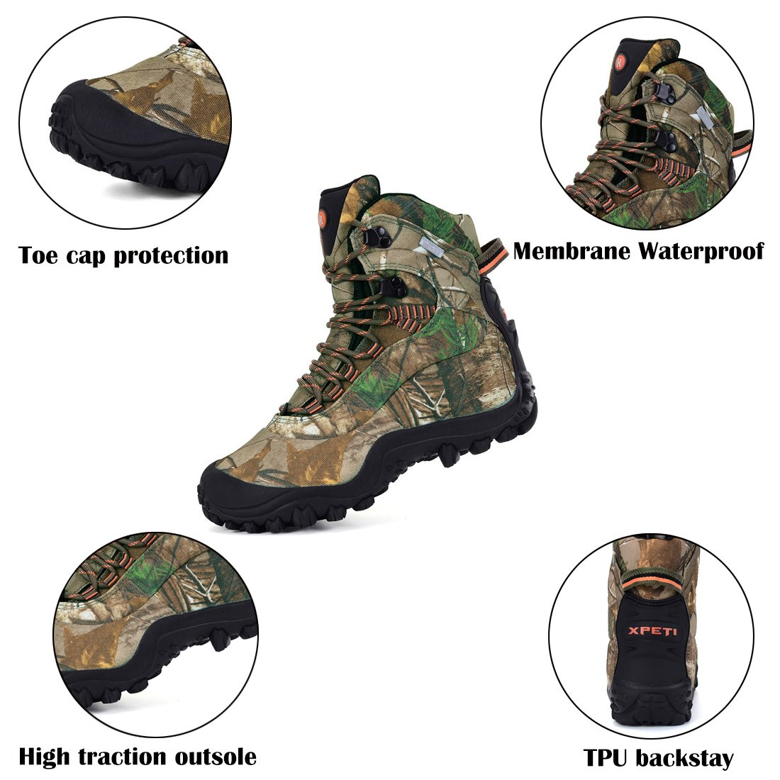 XPETI Boot Women's Waterproof Mid High-Top Hiking Outdoor Boot XPETI B079DKYJ4B 9 B(M) US|Camouflage 31a6c4
