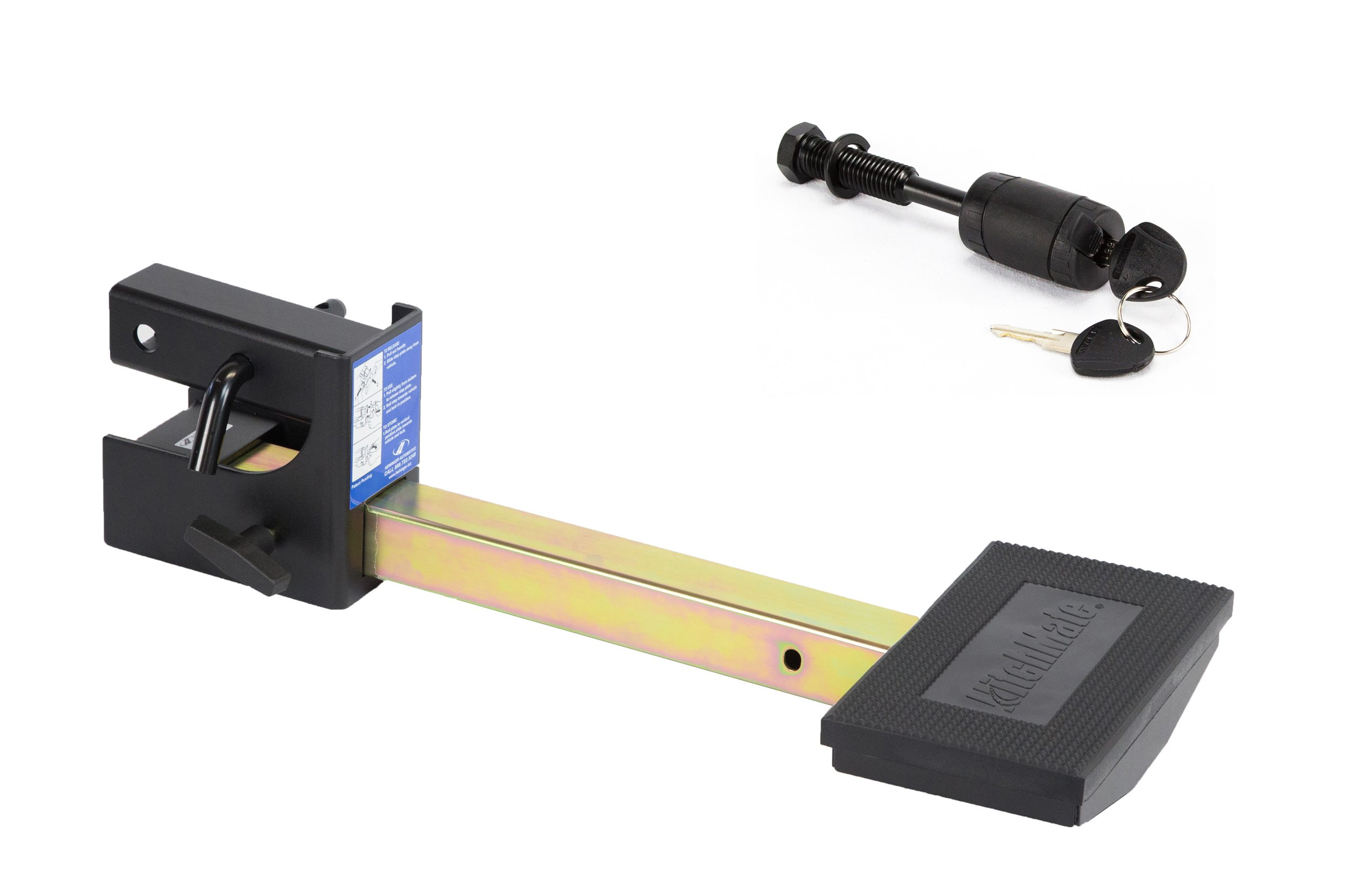 Heininger 4048 HitchMate TruckStep for 2'' receivers with Anti-Wobble Device and Hitch Lock by Heininger