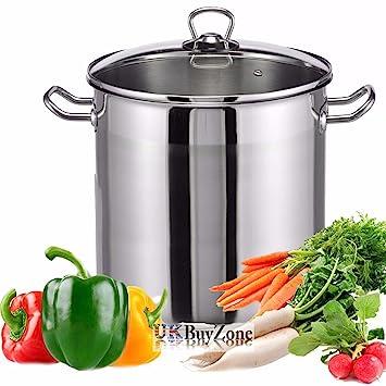 Olla de cocina de acero inoxidable de 20 litros de gran ...