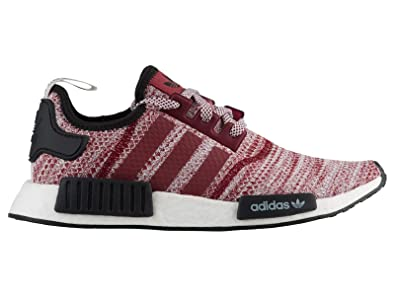 4bd63f0916030 adidas Men s Originals NMD R1 Collegiate Burgundy White Black Mesh Running  Shoes 8.5 M