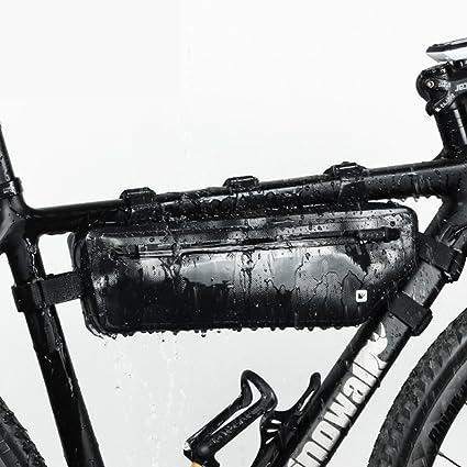 Amazon.com: Bicycle Strap-On Saddle Bike Bag Bike Frame Bag ...