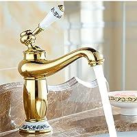 Torneiras para pia de lavatório de ouro Torneira de banheiro de alça única montada em deck Torneira de lavatório de…