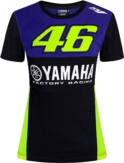 VALENTINO ROSSI T-Shirt Femme VR46 Yamaha Factory M1 Racing Officiel MotoGP