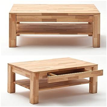 Couchtisch Holz Mit Schublade couchtisch holz massiv buche mit schublade massivholz wohnzimmer