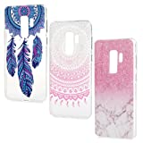 For Galaxy S9 Plus Case, 3 Pcs Totem Marble Series