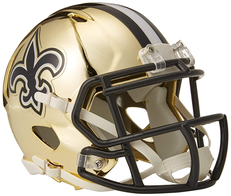 Riddell New Orleans Saints NFL Chrome Alternate Speed Mini Helm RIDDCHMNOR