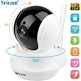monitor camera Sricam SP020 IP Wireless camera ,720P HD Two-way Audio Night Vision with Camera, for Pet Baby Monitor,Home Security Camera Motion Detection Indoor Camera with Micro SD Card Slot