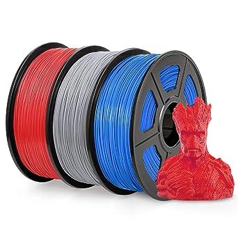 ABS 3D Filament Accuracy +//- 0.02 mm 1KG 2.2LBS Blue SUNLU ABS Filament 1.75mm for FDM 3D Printer