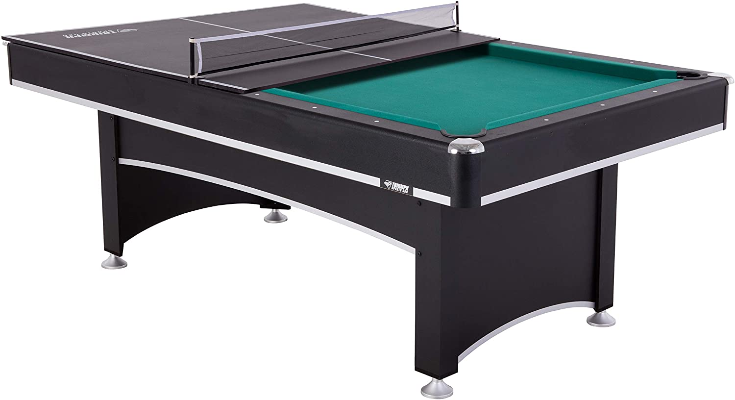 Amazon Com Triumph Phoenix 7 Billiard Table With Table Tennis Conversion Top For A Game Of Pool Or An Action Packed Table Tennis Match Sports Outdoors