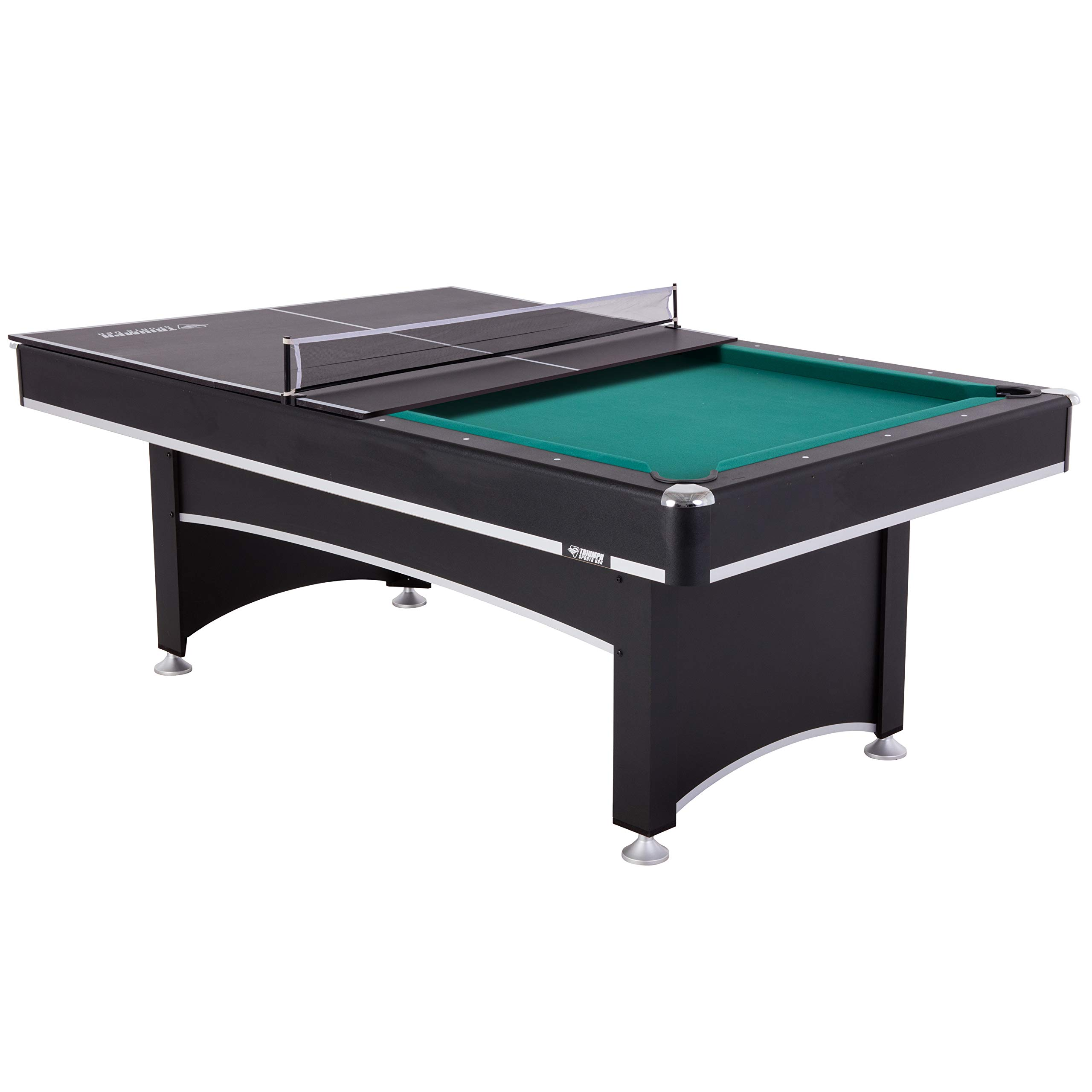 Triumph Phoenix 7' Billiard Table with Table Tennis Conversion Top for a Game of Pool or an Action-Packed Table Tennis Match by Triumph Sports