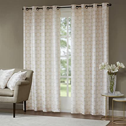Amazon.com: Madison Park Gold Curtains for Living Room,Contemporary ...
