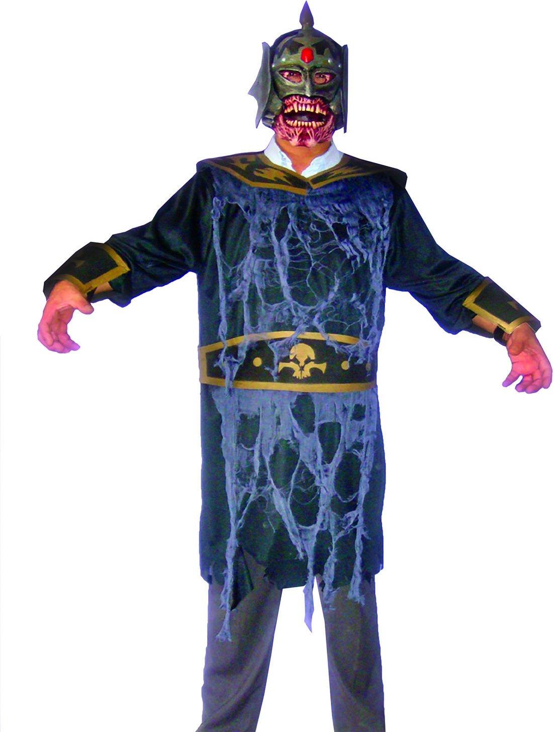 Zauberclown Herren Karnevals-Kostüm Set Zombie Krieger, One Größe, Mehrfarbig