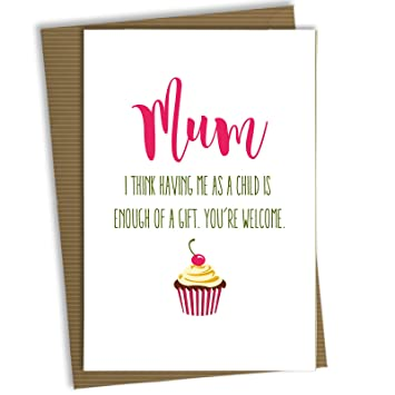 Fp0009 Funny Mothers Day Mum Birthday Card Comedy Humour Amazon