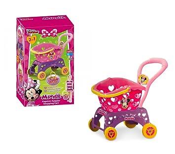 084199 Carro para la compra de MINNIE con la cesta para comprar extraíble 2 en 1: Amazon.es: Juguetes y juegos