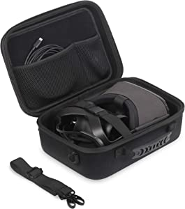 Oculus Quest Case JSVER Carrying Case for Oculus Quest VR Gaming Headset, Controllers Accessories Hard Oculus Quest Travel Case with Shoulder Strap, Silicone VR Face Mask, Lens Dustproof Cover (Black)