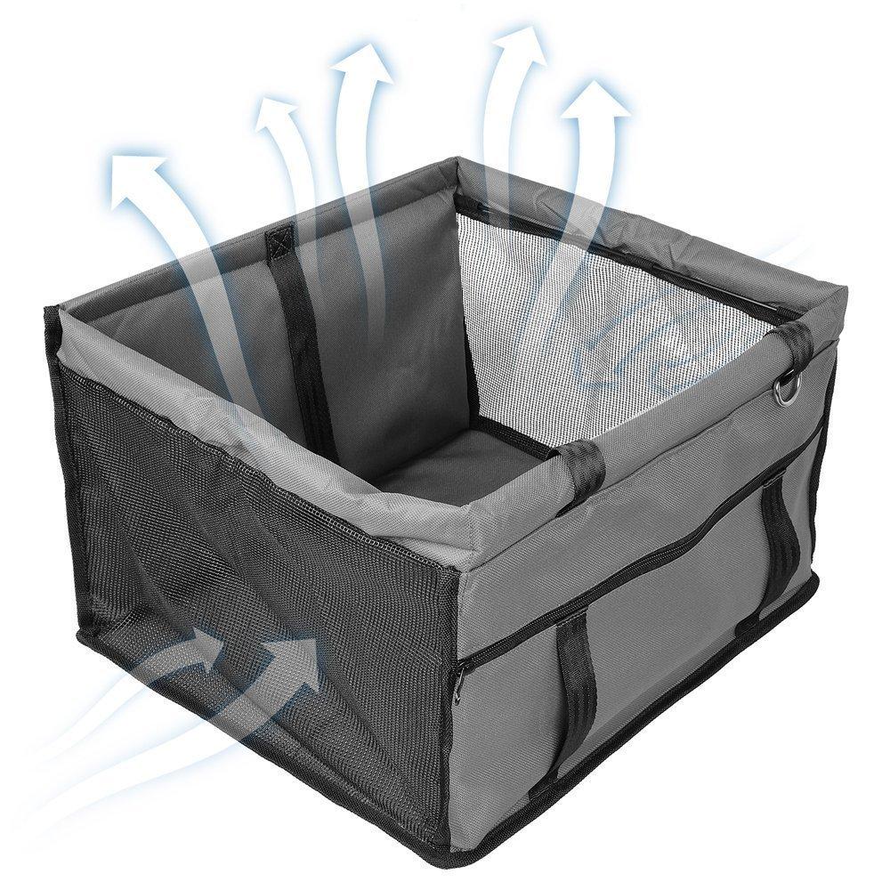 mit Sicherungsgurt Gr/ö/ße L Ouguan/® 1 x Graue Haustiertragetasche leicht zu falten Reisetasche f/ür den Beifahrersitz Gewicht bis 6,8 kg Gr/ö/ße L Autotasche f/ür Hunde//Katzen Farbe Kieselgrau