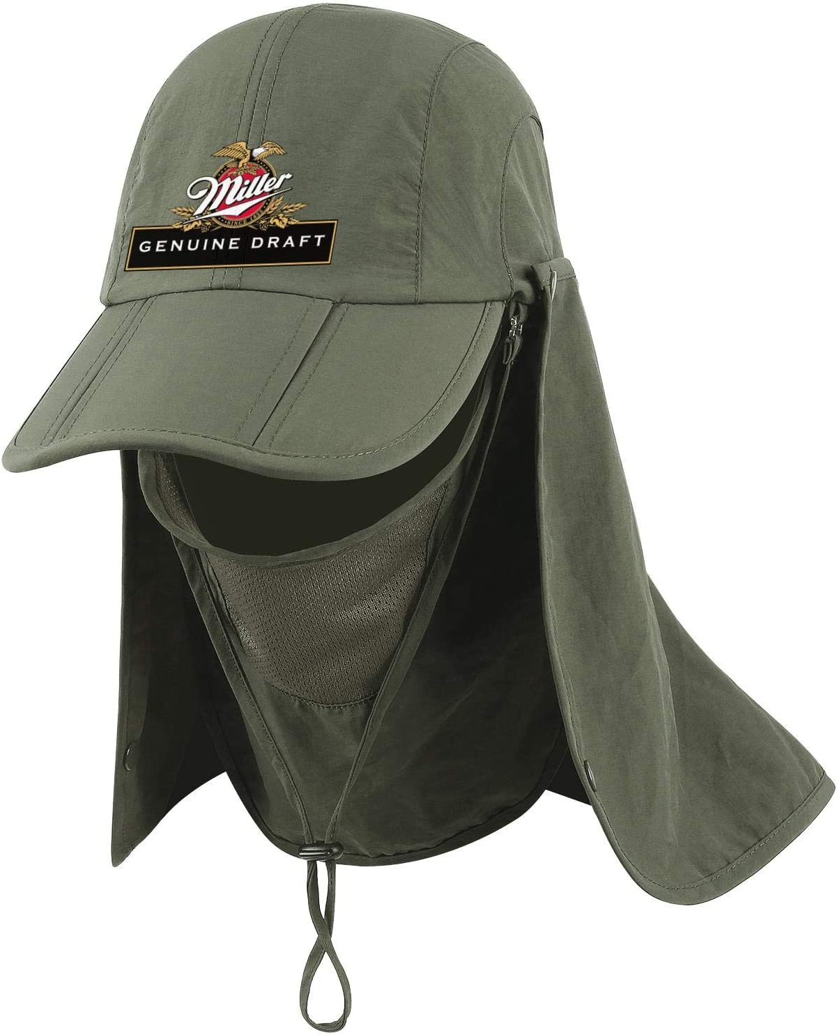 Mens Quick-Drying Outdoor Sun Hats Neck Face Flap Hat Fishing Hat Jdadaw Miller-Genuine-Draft-High-Life