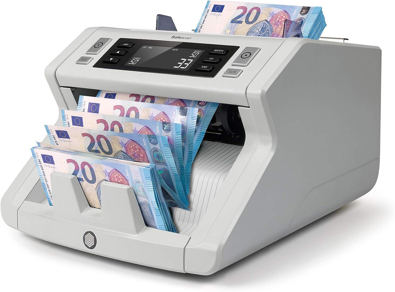 Safescan 2250 - Contadora automática de billetes clasificados. Detección UV, MG y tamaño