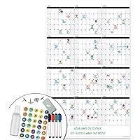 Lushleaf designs 36x48 Jumbo Month Calendar (Parent) 24 inch x 36 inch 24x36 Dated 2019 Calendar